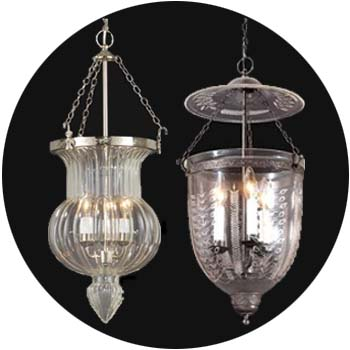 Hall and Bell Jar Lamps
