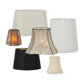 Fabric and Mica Lampshades