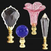Crystal Glass Lamp Finials