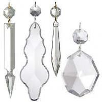 Traditional Clear Lamp Crystals & Lamp Pendalogues
