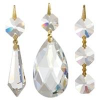 Strass and BrilliantCut Full Lead Clear Lamp Crystals
