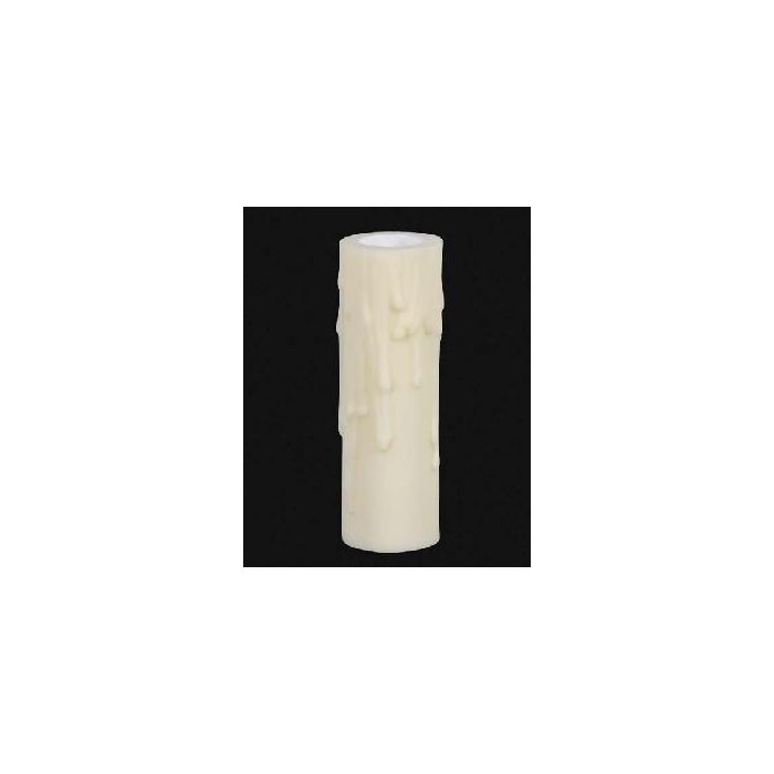 """4/"""" Tall Antique Look Poly Beeswax Candle Socket Cover ~ Fits E26 Standard Socket"""