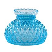 Diamond Quilted Light Blue Glass Shade, 7 inch fitter