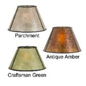 Parchment Empire Style Mica Lamp Shade