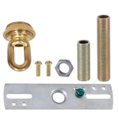 Cast Unfinished Brass Screw Collar Loop Canopy Set