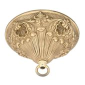 5 1/2 Inch Diameter Victorian Style Cast Brass Ceiling Canopy Kits
