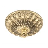 Cast Brass Canopy w/Polished Brass Finish and Mounting Hardware