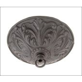 """Satin Black Finished, Cast Brass Ceiling Canopy, 5 1/2"""" dia."""