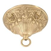 """6 1/4"""" Dia., Victorian Style Ceiling Canopy Kits With Heavy Brass Loop"""