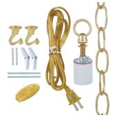 Swag Lamp Kit for Fabric Shades