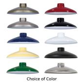 """10"""" Industrial Style Metal Lampshades with 2-1/4 Inch Lip Fitter, Choice of Color"""